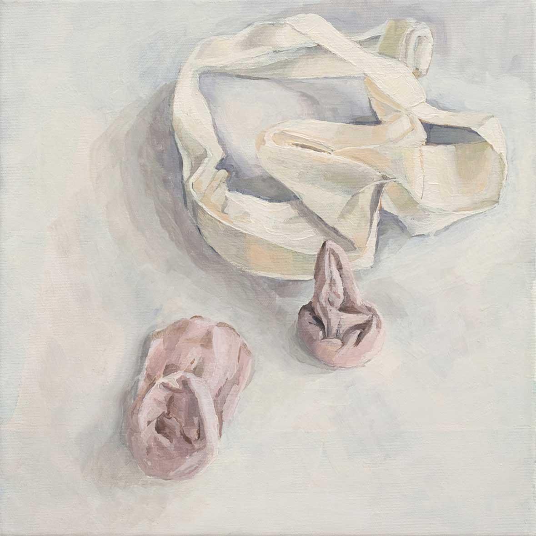 Wäsche, 40 x 40 cm, Öl/Lwd, 2009