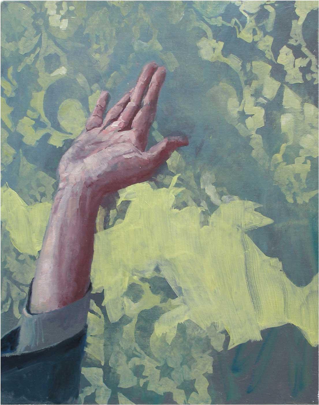 Gruss, 50 x 40 cm, Öl/Lwd., 2016