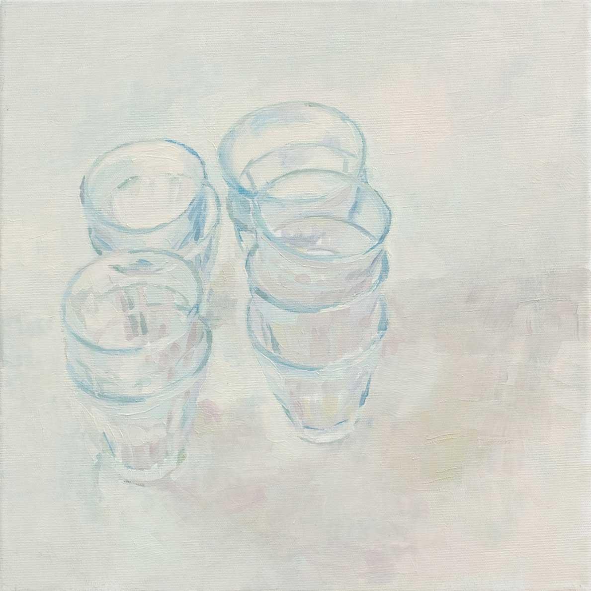 Gläser, 40 x 40 cm, Öl/Lwd, 2009
