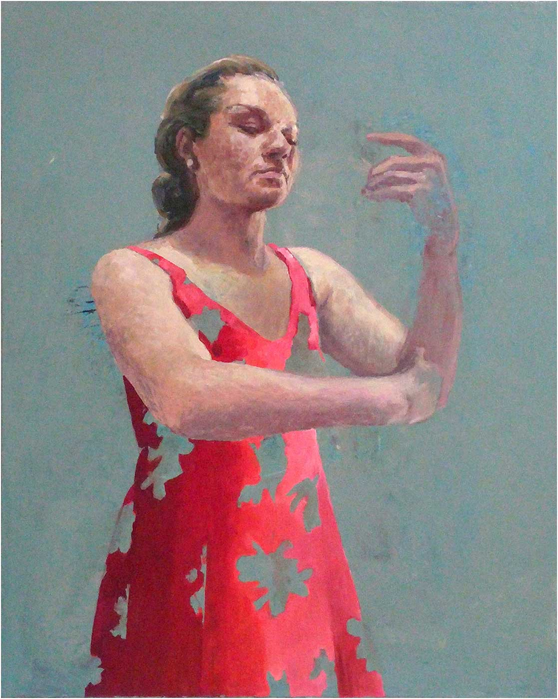 halten, 90 x 70 cm, Öl/Lwd., 2017