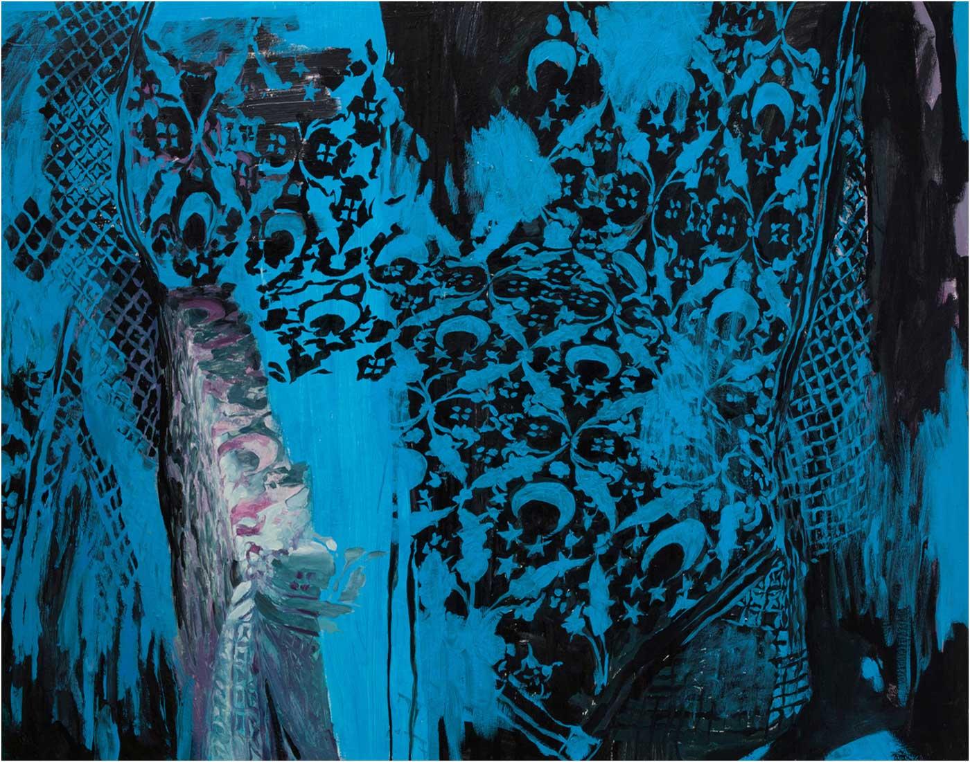 Arabeske 32, 120 x 155 cm, Öl/Lwd., 2013