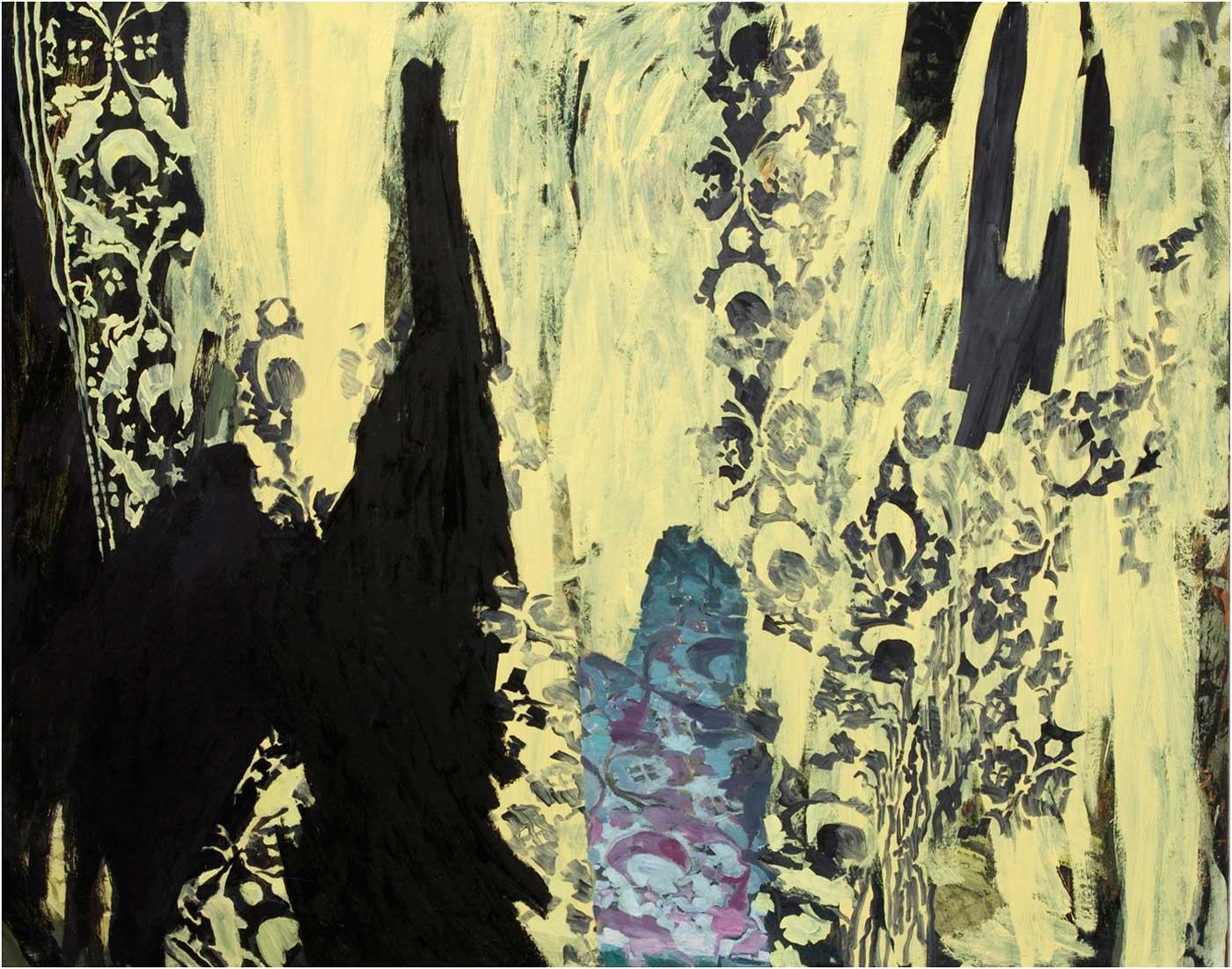 Arabeske 33, 120 x 155 cm, Öl/Lwd., 2013