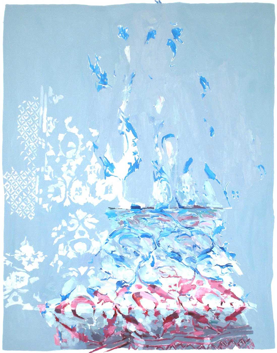 Arabeske 45, 155 x 120 cm, Öl/ Lwd., 2013