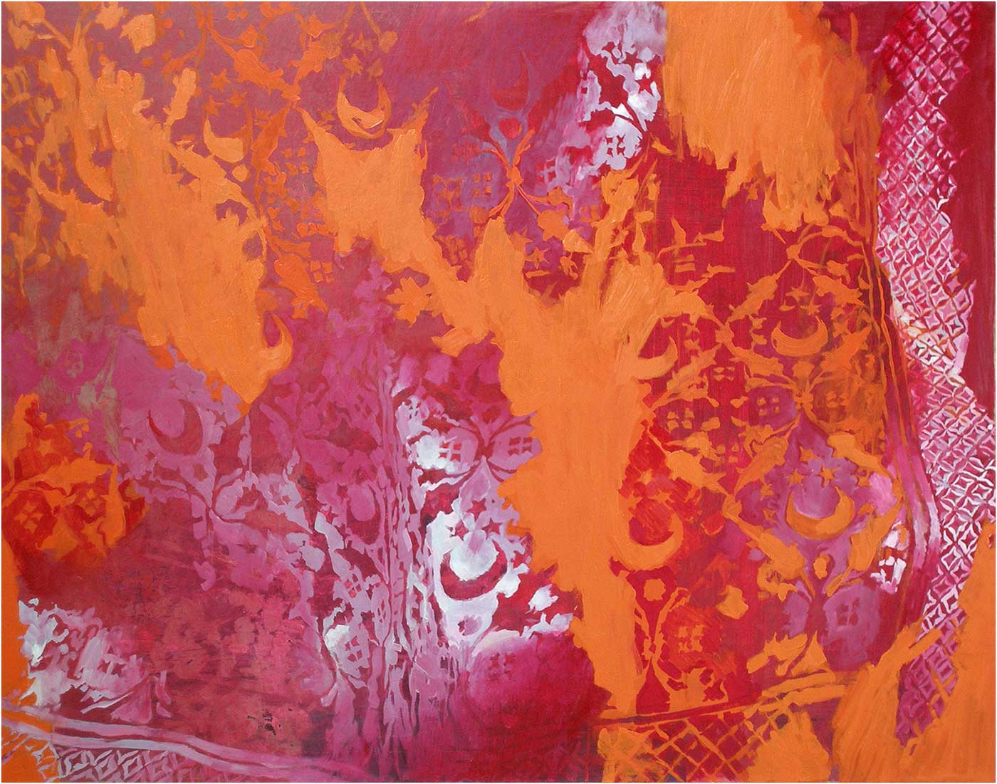 Arabeske 52, 120 x 155 cm, Öl/Lwd., 2014