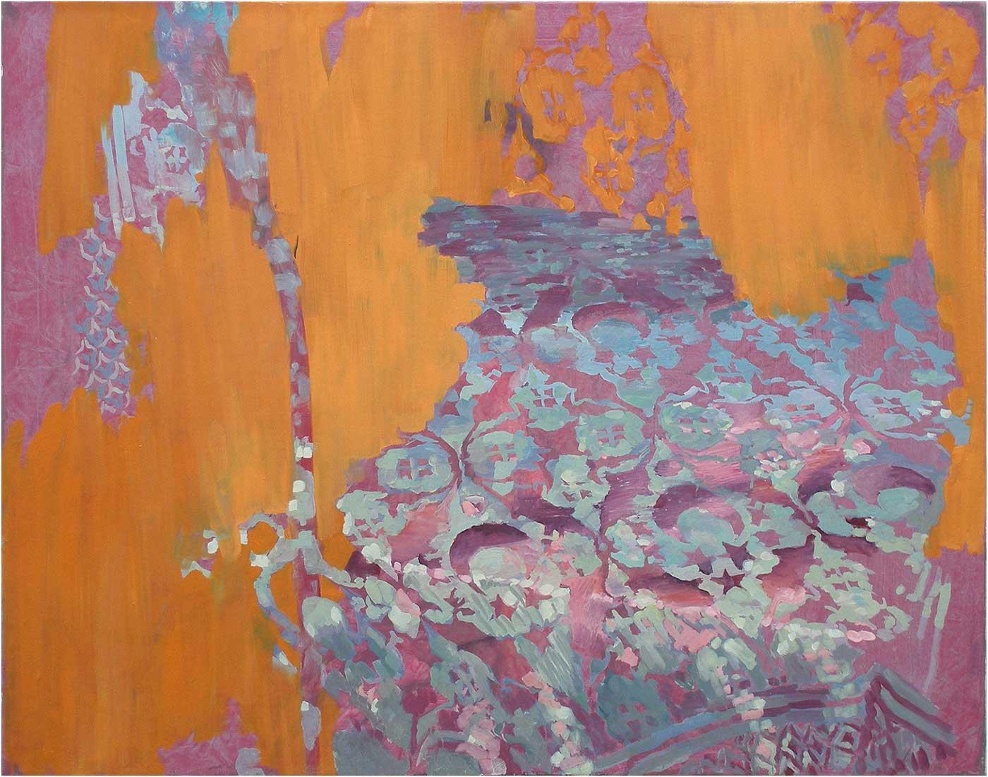 Arabeske 61, 70 x 90 cm, Öl/Lwd., 2016