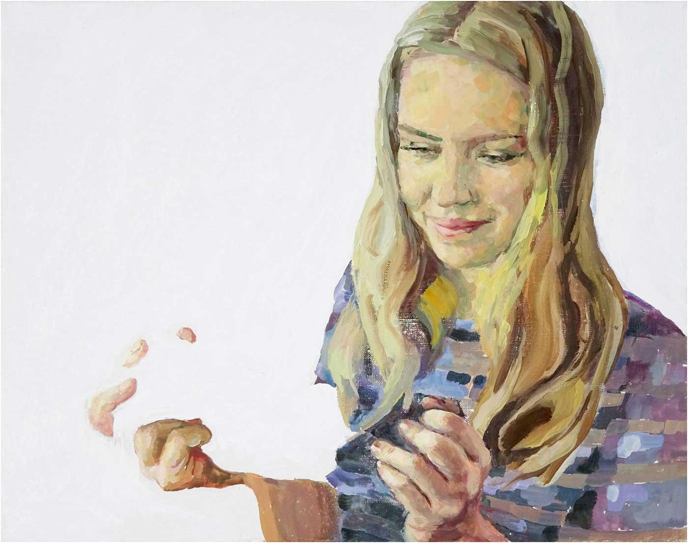 Lisa, 40 x 50 cm, Öl/Lwd,. 2017