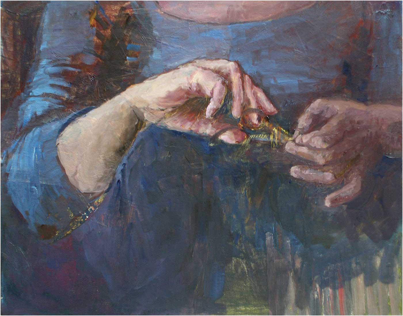 Samson, 40 x 50 cm, Öl/Lwd., 2015