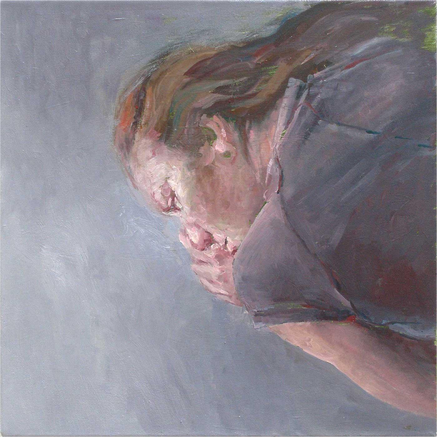 Jekatarina, liegend, 40 x 40 cm Öl / Lwd, 2018
