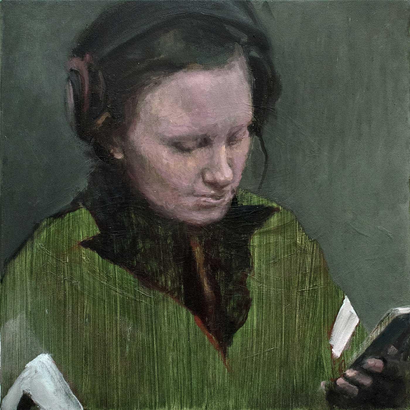 Valerie, 40 x 40 cm Öl / Lwd, 2018
