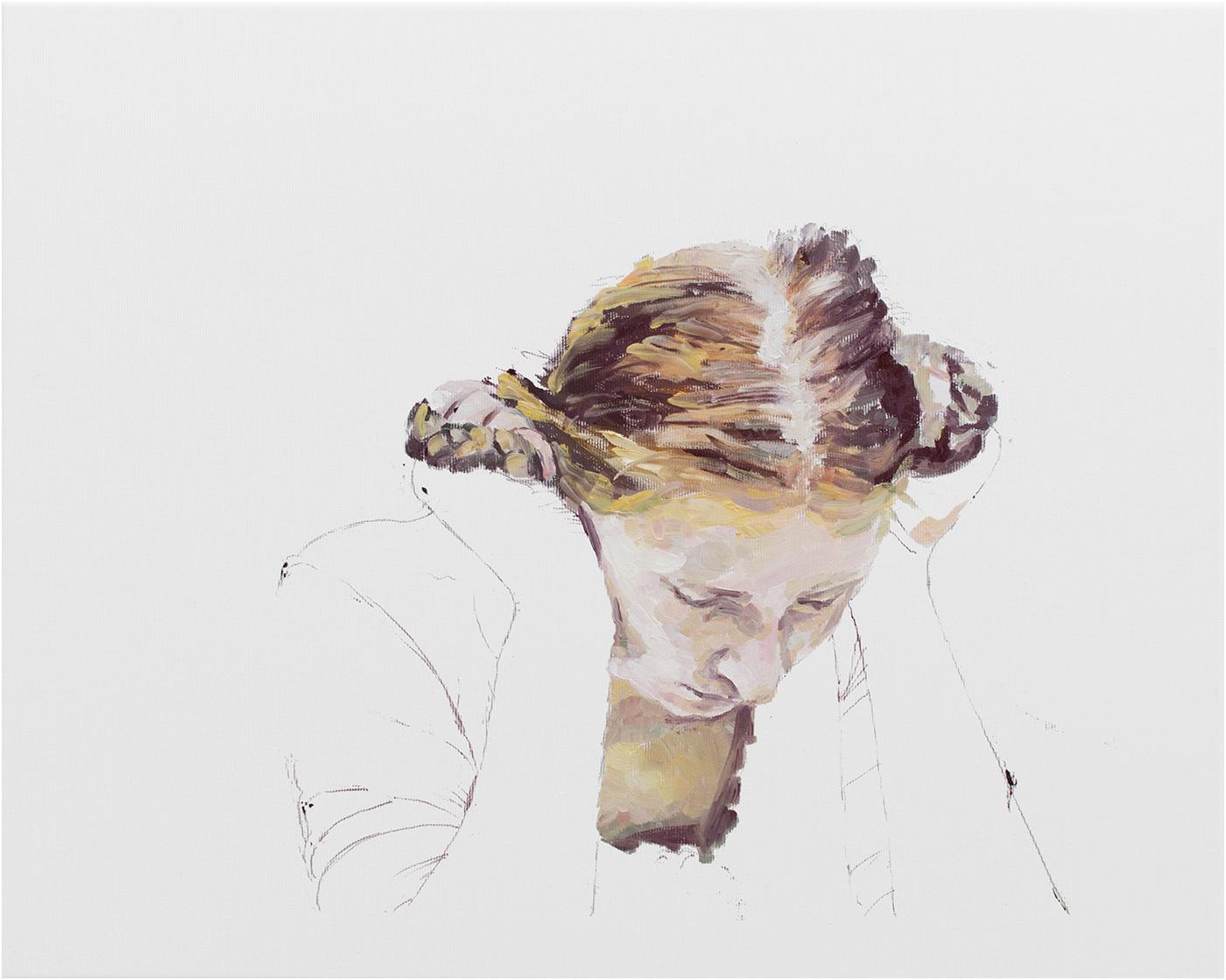 Andacht, 40 x 50 cm, Öl/Lwd., 2018