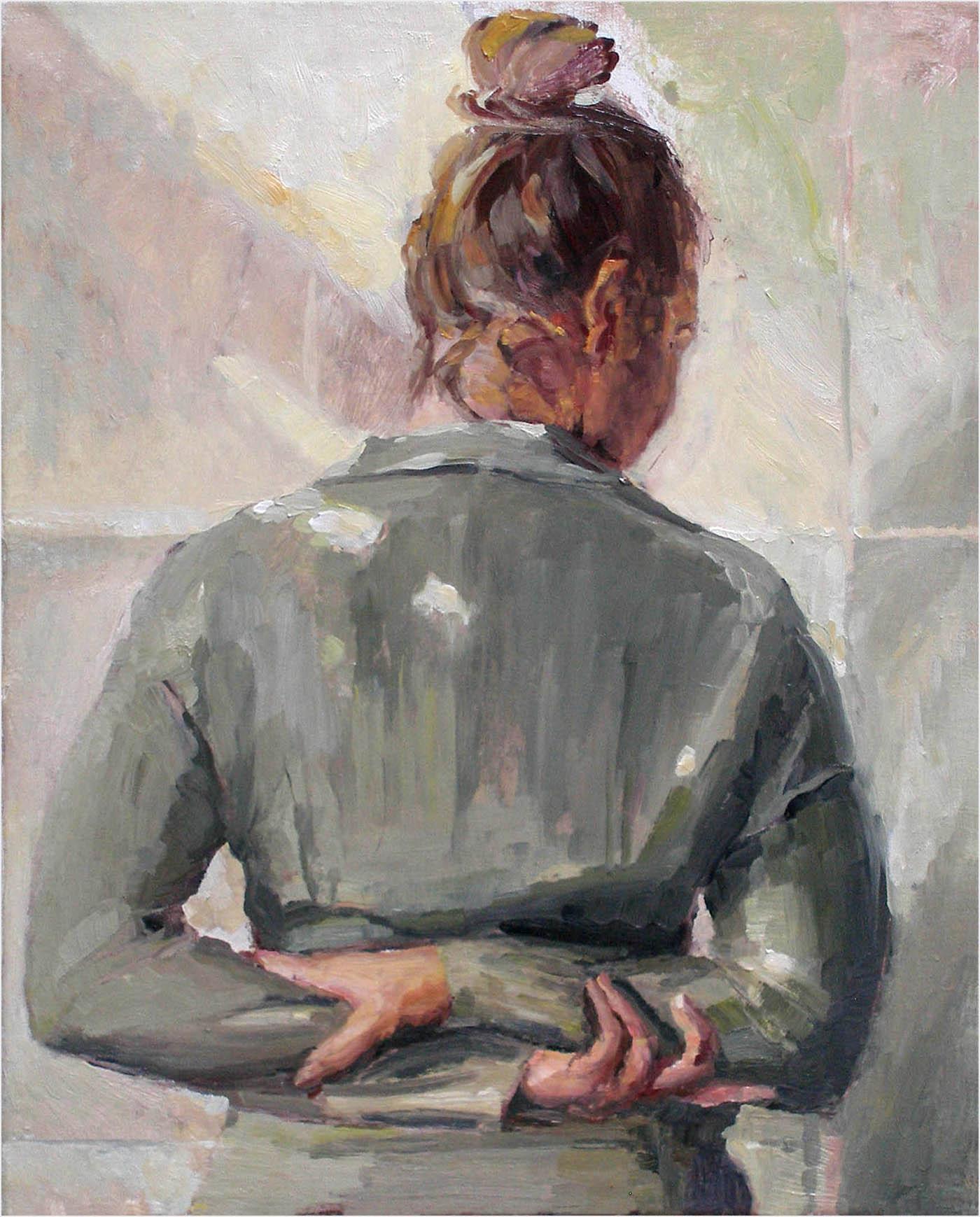 Modell, 50 x 40 cm, Öl/Lwd., 2018