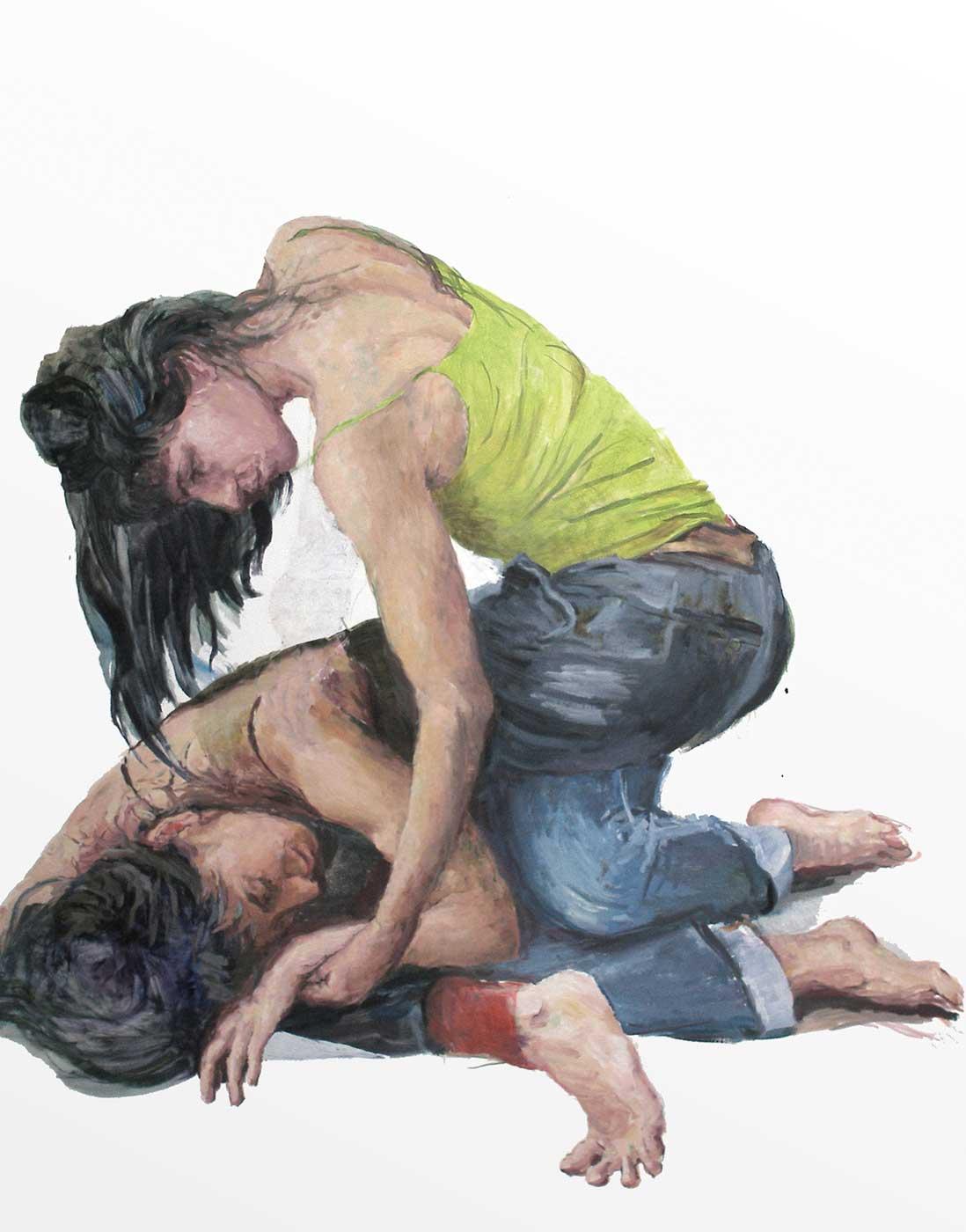 nach-Delacroix, 160 x 120cm Öl/Lwd. 2019